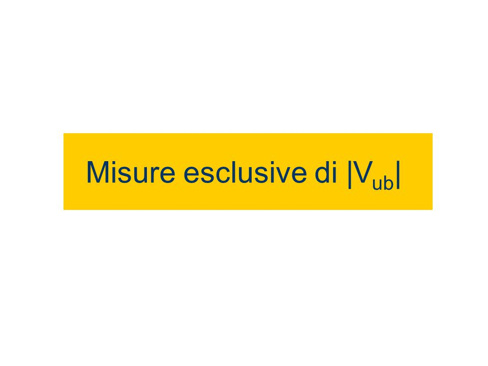 Misure esclusive di |V ub |