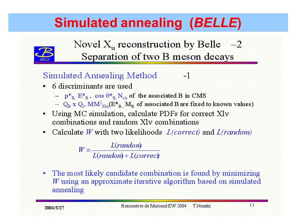 Simulated annealing (BELLE)