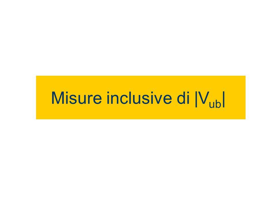 Misure inclusive di |V ub |