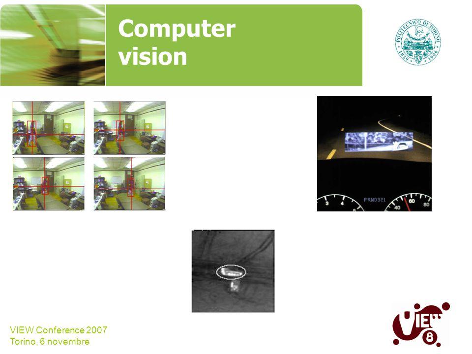 VIEW Conference 2007 Torino, 6 novembre Computer vision