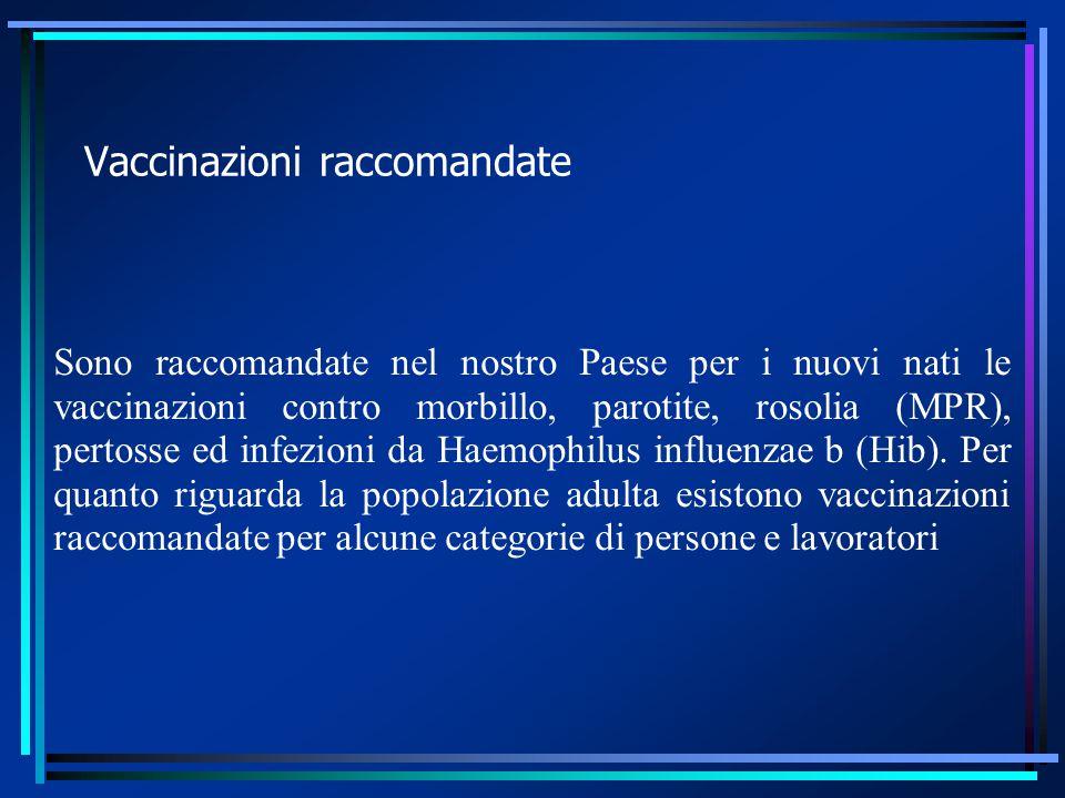 Vaccinazioni obbligatorie (da Ministero della salute) In Italia sono obbligatorie per tutti i nuovi nati le vaccinazioni contro difterite, tetano, poliomielite, epatite virale B.