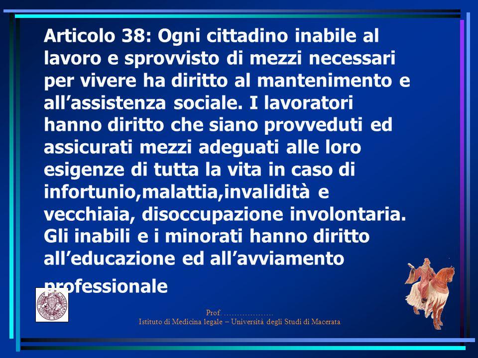 Art. 3: è compito della Repubblica rimuovere gli ostacoli di ordine economico, che, limitando di fatto la libertà e l'eguaglianza dei cittadini, imped