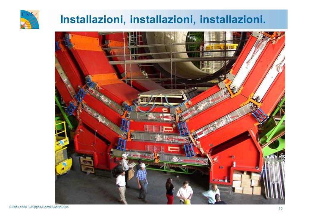 GuidoTonelli /Gruppo1/Roma/5Aprile2005 15 Installazioni, installazioni, installazioni.