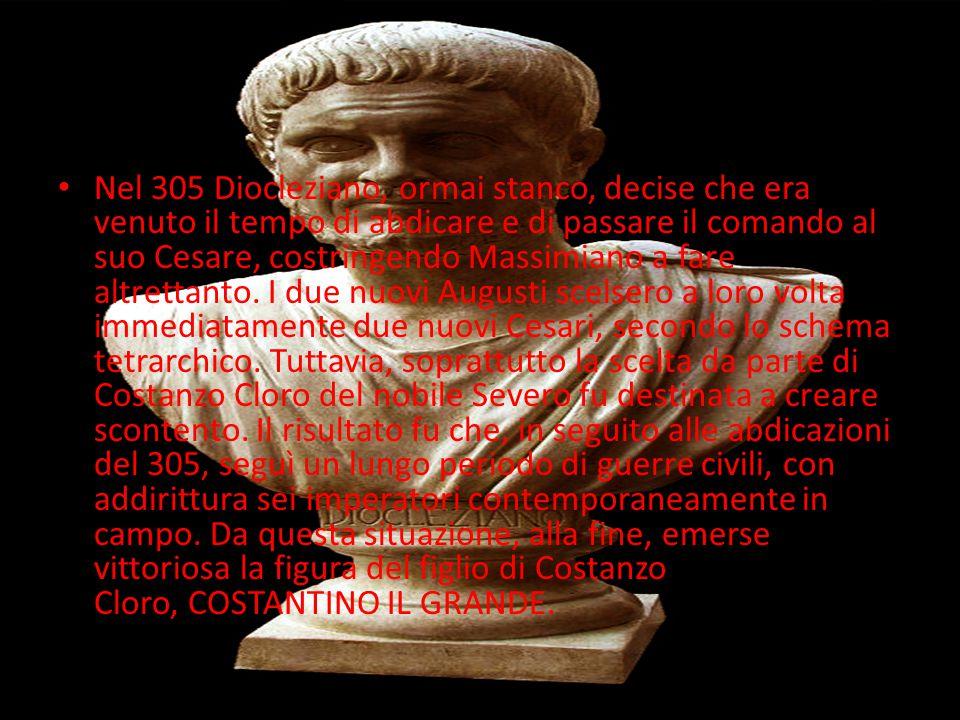 LA RIFORMA Quella della tetrarchia non fu l unica riforma di Diocleziano.