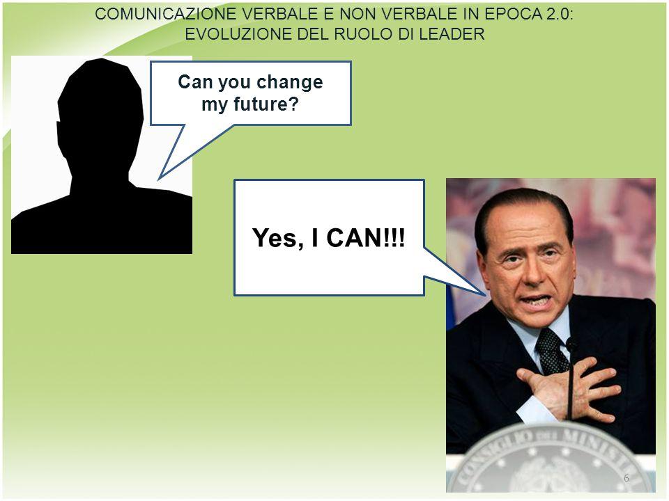 Can you change my future? Yes, I CAN!!! COMUNICAZIONE VERBALE E NON VERBALE IN EPOCA 2.0: EVOLUZIONE DEL RUOLO DI LEADER 6