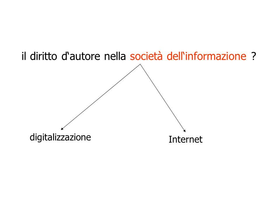 il diritto d'autore nella società dell'informazione digitalizzazione Internet
