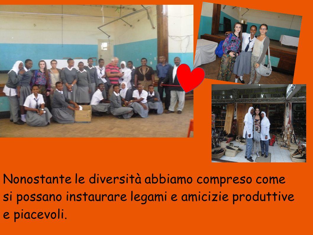 Nonostante le diversità abbiamo compreso come si possano instaurare legami e amicizie produttive e piacevoli.