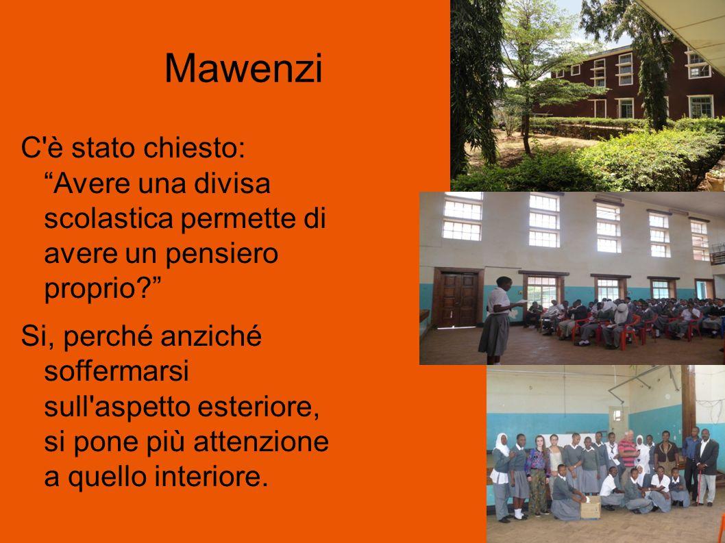 Mawenzi C è stato chiesto: Avere una divisa scolastica permette di avere un pensiero proprio Si, perché anziché soffermarsi sull aspetto esteriore, si pone più attenzione a quello interiore.