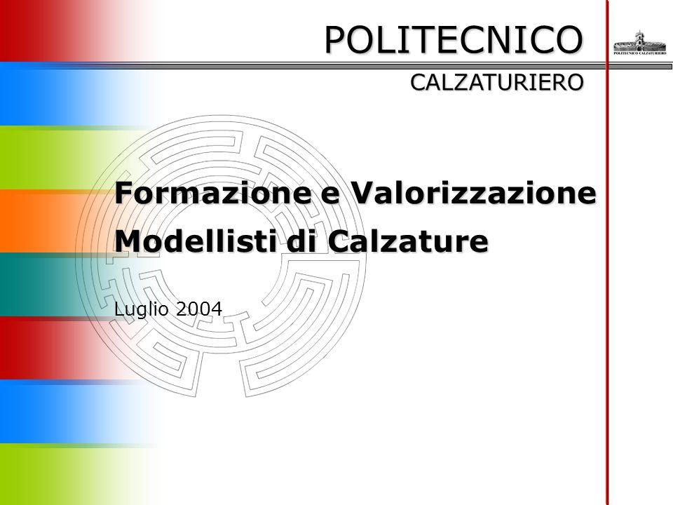 POLITECNICO CALZATURIERO Formazione e Valorizzazione Modellisti di Calzature Luglio 2004