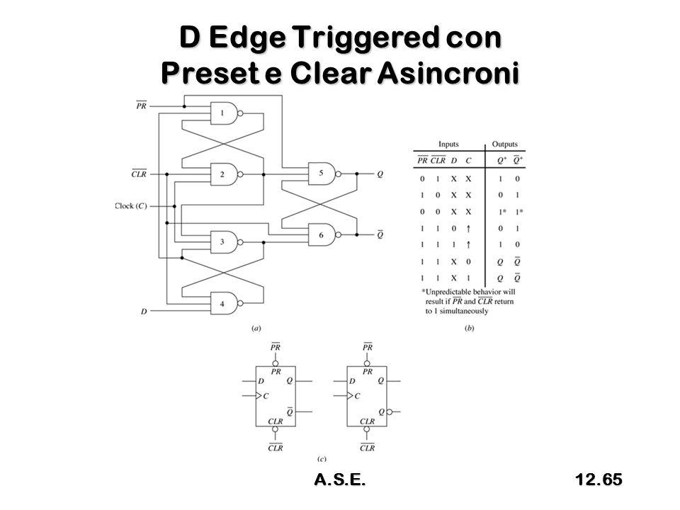 D Edge Triggered con Preset e Clear Asincroni A.S.E.12.65