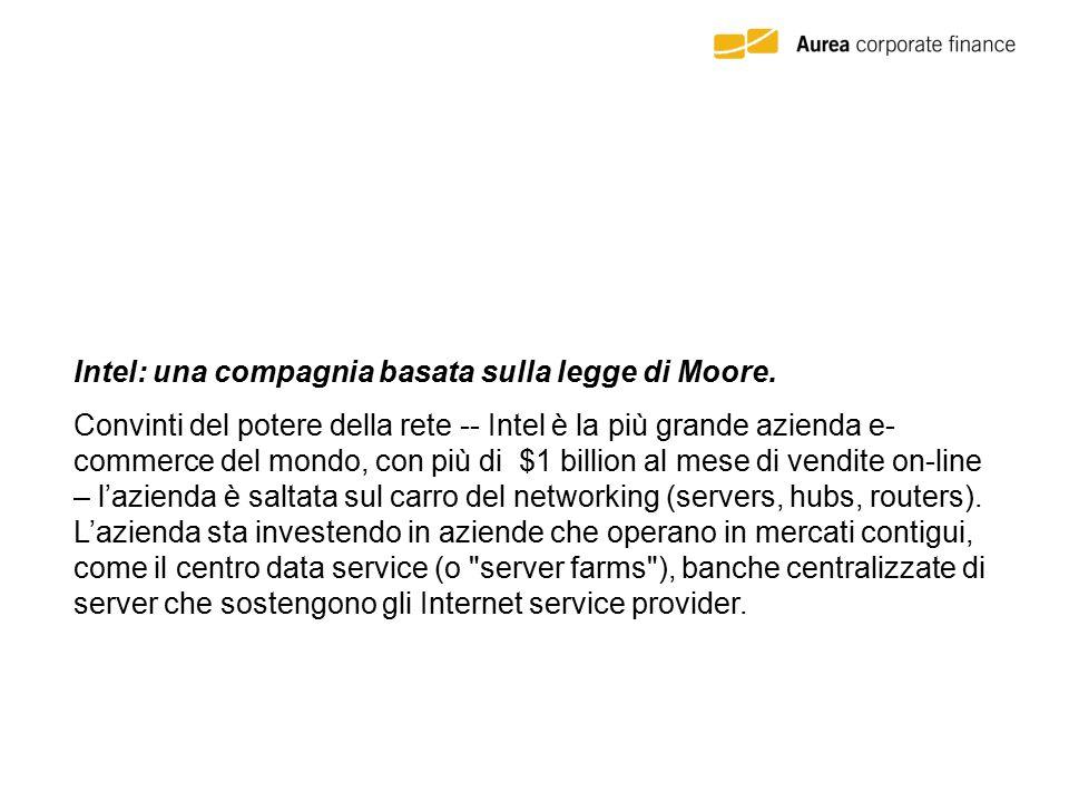 Intel: una compagnia basata sulla legge di Moore. Intel sta guardando nuovi territori dalla cima della montagna dei microchip. A Santa Clara, in Calif