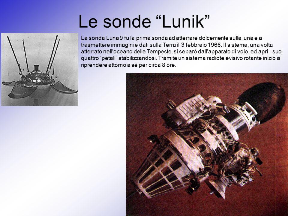 """Le sonde """"Lunik"""" La sonda Luna 9 fu la prima sonda ad atterrare dolcemente sulla luna e a trasmettere immagini e dati sulla Terra il 3 febbraio 1966."""