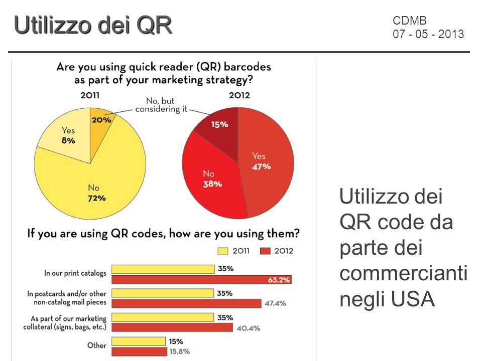 CDMB 07 - 05 - 2013 Utilizzo dei QR Utilizzo dei QR code da parte dei commercianti negli USA
