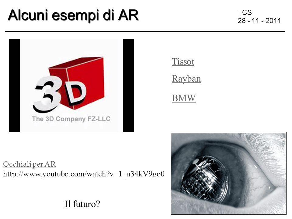 TCS 28 - 11 - 2011 Alcuni esempi di AR Tissot BMW Rayban Il futuro.
