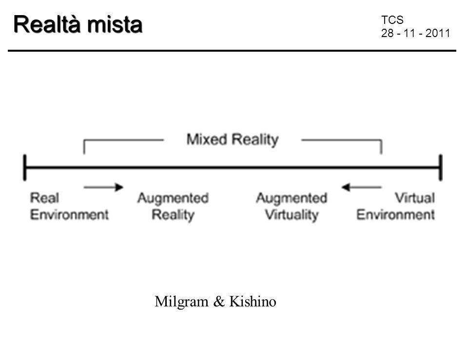 TCS 28 - 11 - 2011 Realtà mista Milgram & Kishino