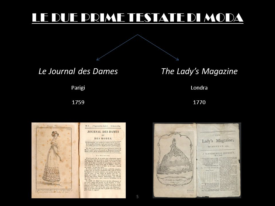 LE DUE PRIME TESTATE DI MODA Le Journal des Dames Parigi 1759 The Lady's Magazine Londra 1770 5