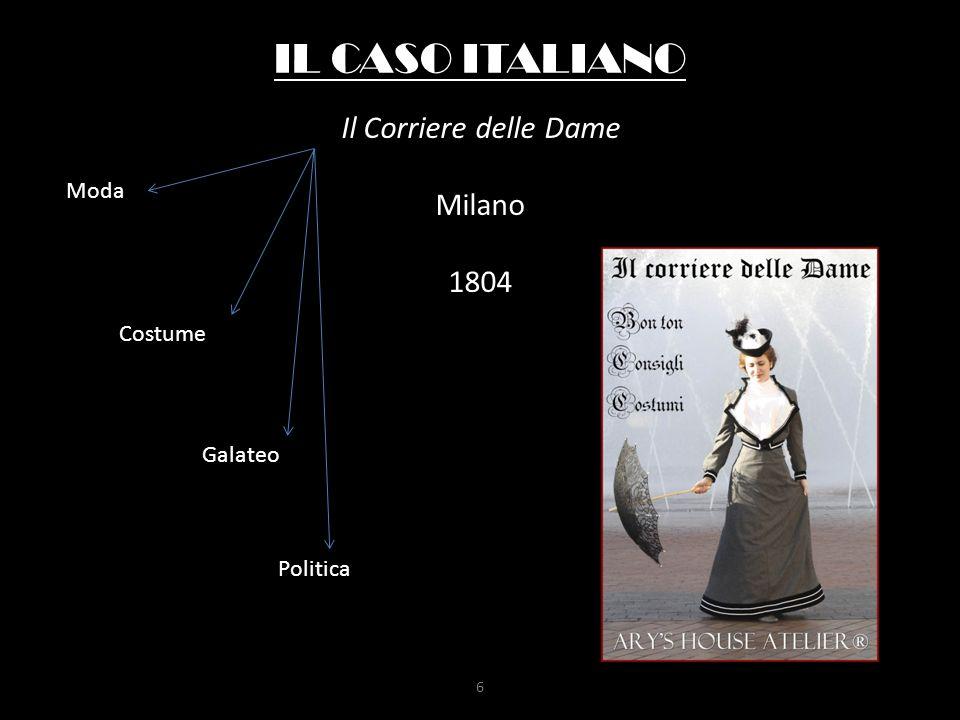 IL CASO ITALIANO Il Corriere delle Dame Milano 1804 Moda Costume Galateo Politica 6