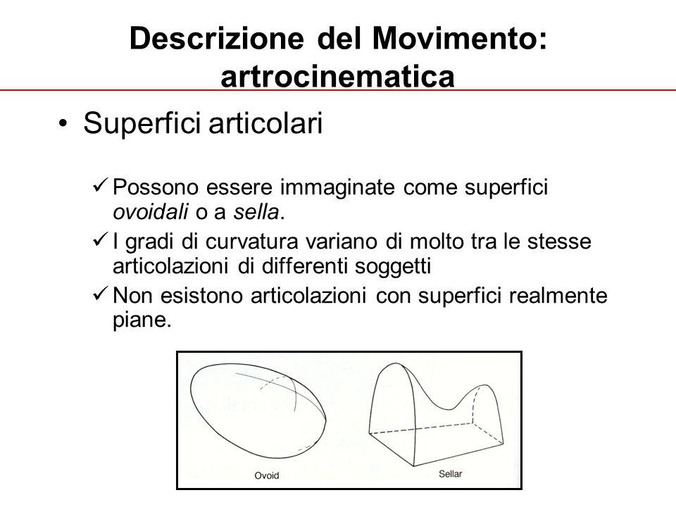 A. Fusco UNIGE 2013 Descrizione del Movimento: artrocinematica Superfici articolari Possono essere immaginate come superfici ovoidali o a sella. I gra