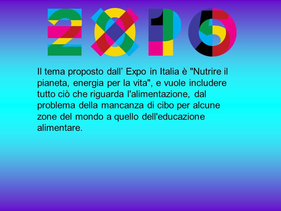 Il tema proposto dall' Expo in Italia è