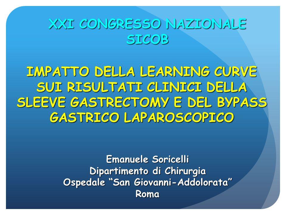 CARATTERISTICHE DEI PAZIENTI: BYPASS CASO 0- 30 CASO 30- 60 BMIASA Pregr.