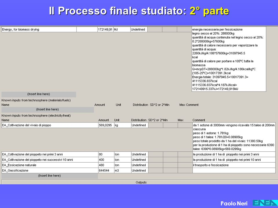 Il Processo finale studiato: 2° parte Paolo Neri