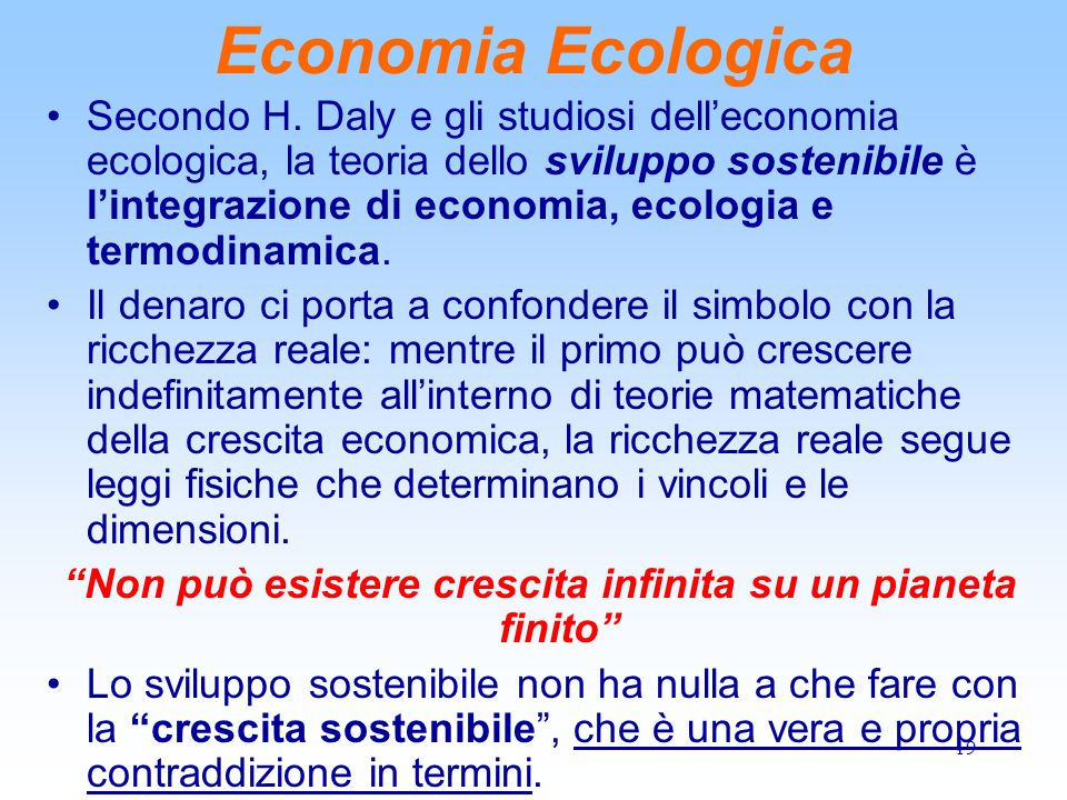 19 Economia Ecologica Secondo H.