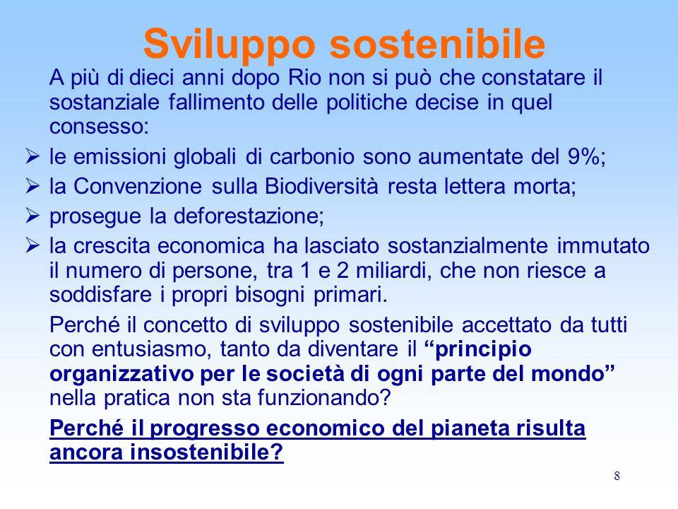 9 Sviluppo sostenibile Una risposta a queste domande arriva dal grande economista americano Herman Daly, padre della teoria dello sviluppo sostenibile.