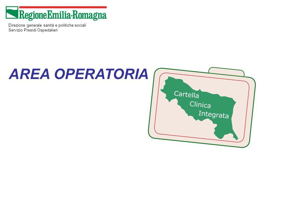 Direzione generale sanità e politiche sociali Servizio Presidi Ospedalieri AREA OPERATORIA