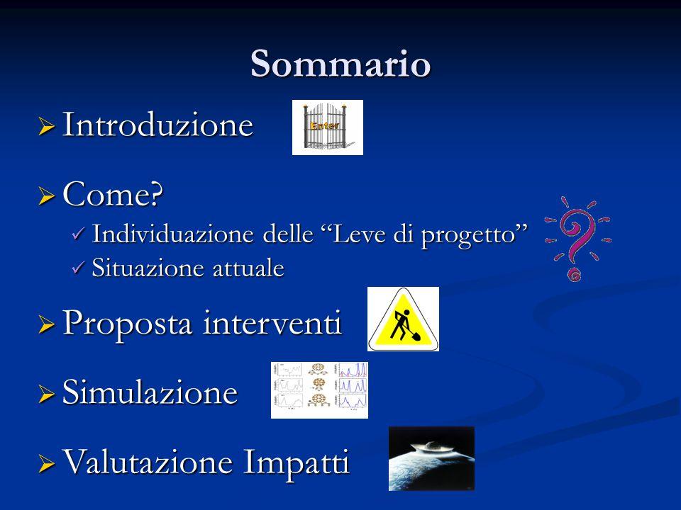 Sommario  Introduzione  Come.