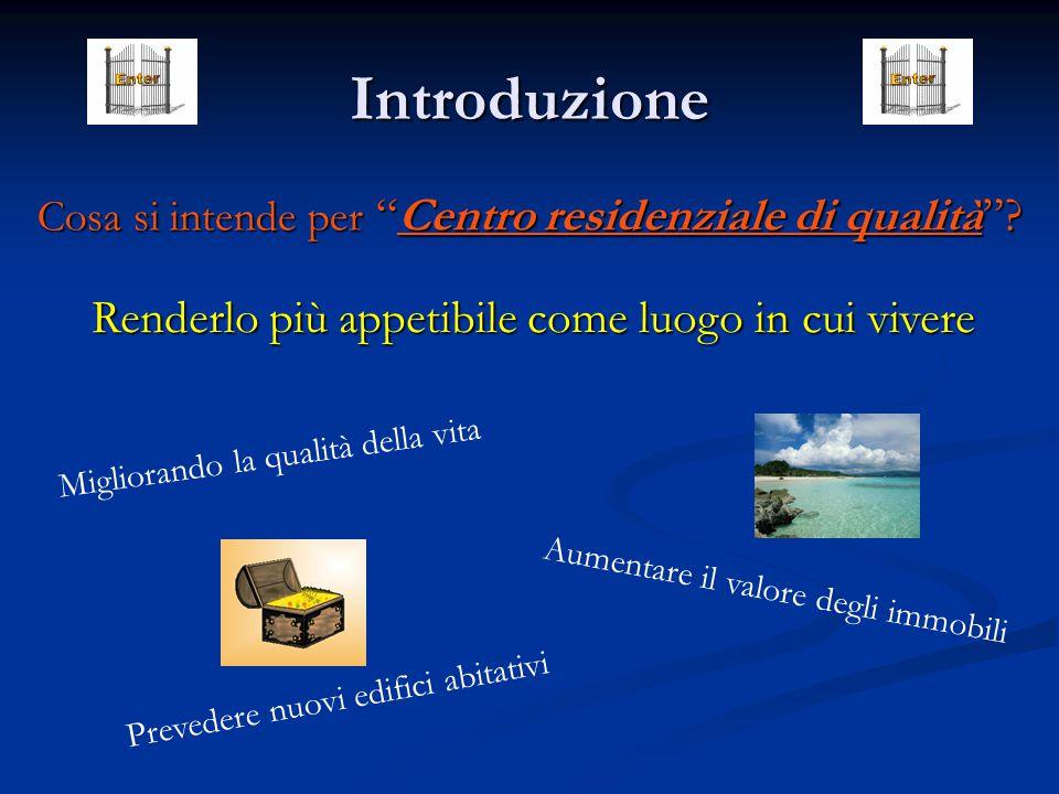 Introduzione Cosa si intende per Centro residenziale di qualità .