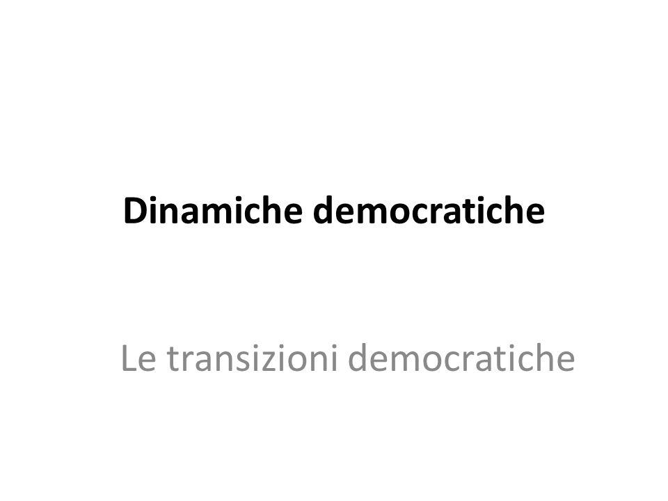 Tre meccanismi (più uno) Transizione e instaurazione (ma anche consolidamento) APPRENDIMENTO a livello di élites e di massa Consolidamento, persistenza e crisi ANCORAGGIO INTERNO ED ESTERNO Perfezionamento e peggioramento della qualità democratica CONVERGENZA RECIPROCA DELLE QUALITA' Conseguenze della crisi economica EFFETTO CATALIZZATORE