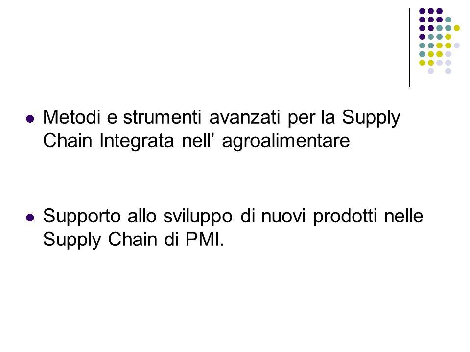 Metodi e strumenti avanzati per la Supply Chain Integrata nell' agroalimentare Supporto allo sviluppo di nuovi prodotti nelle Supply Chain di PMI.