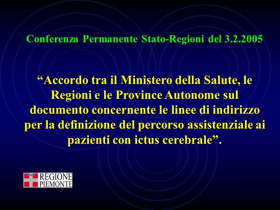 """Conferenza Permanente Stato-Regioni del 3.2.2005 """"Accordo tra il Ministero della Salute, le Regioni e le Province Autonome sul documento concernente l"""