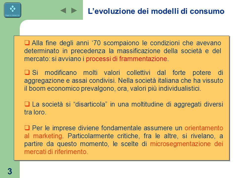 3  Si modificano molti valori collettivi dal forte potere di aggregazione e assai condivisi.