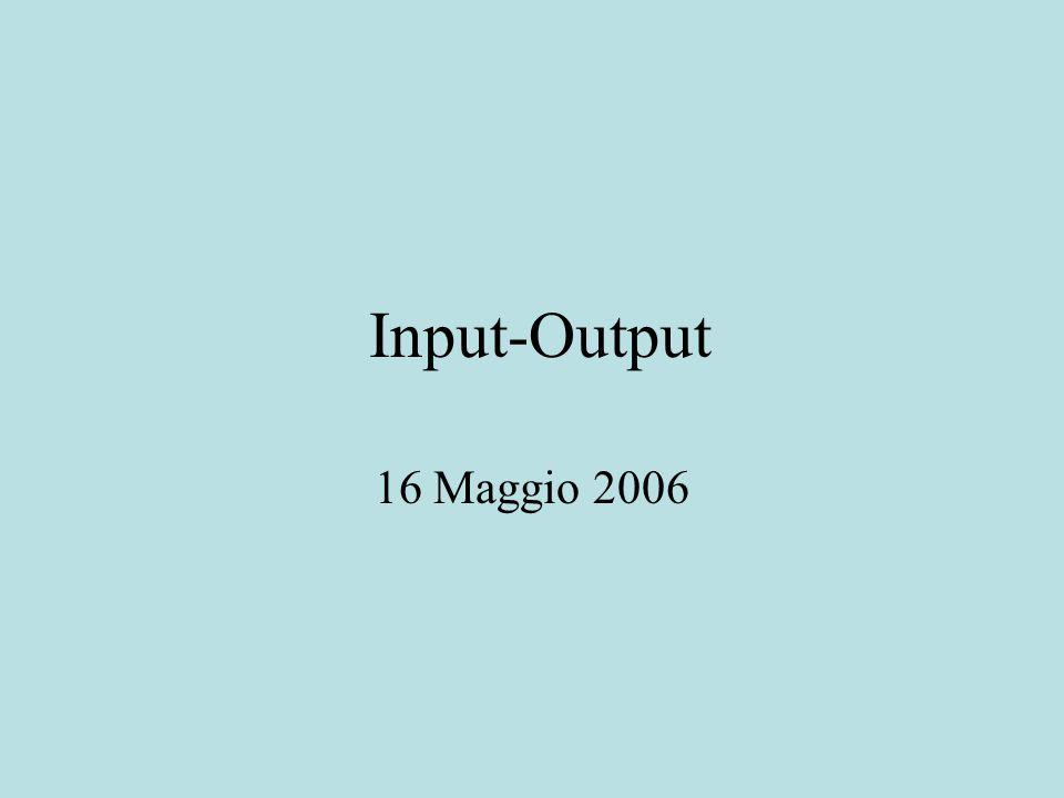Input-Output 16 Maggio 2006