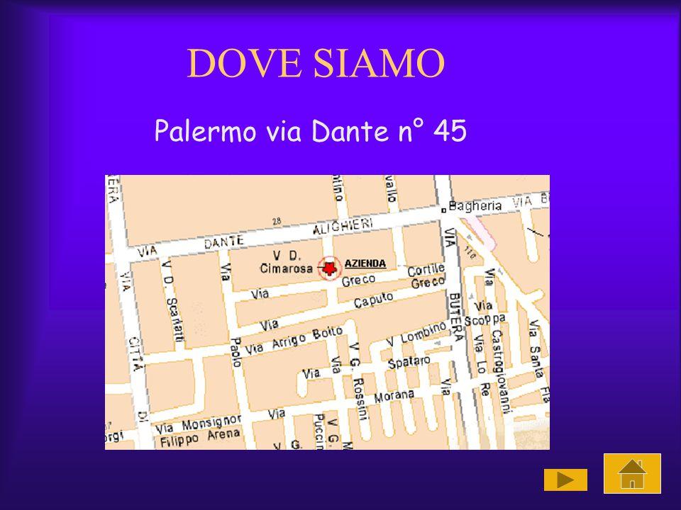 DOVE SIAMO Palermo via Dante n° 45