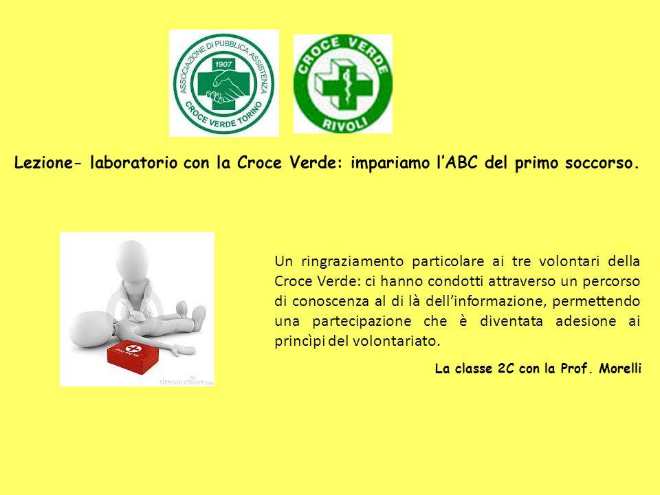 Lezione- laboratorio con la Croce Verde: impariamo l'ABC del primo soccorso.