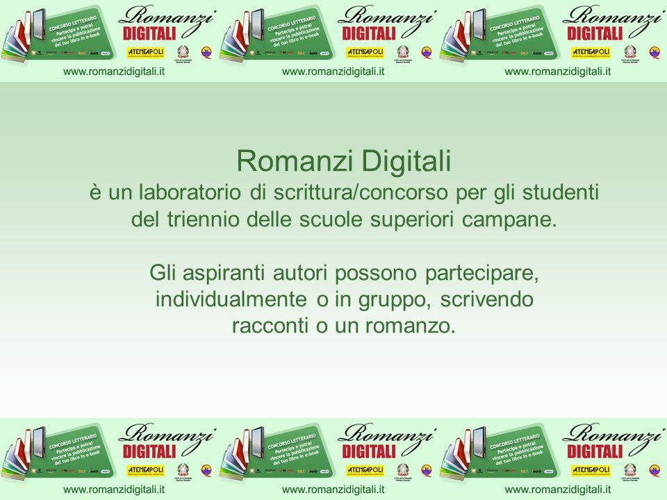 Romanzi Digitali è un laboratorio di scrittura/concorso per gli studenti del triennio delle scuole superiori campane.