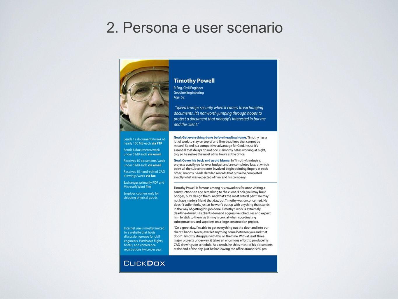 2. Persona e user scenario