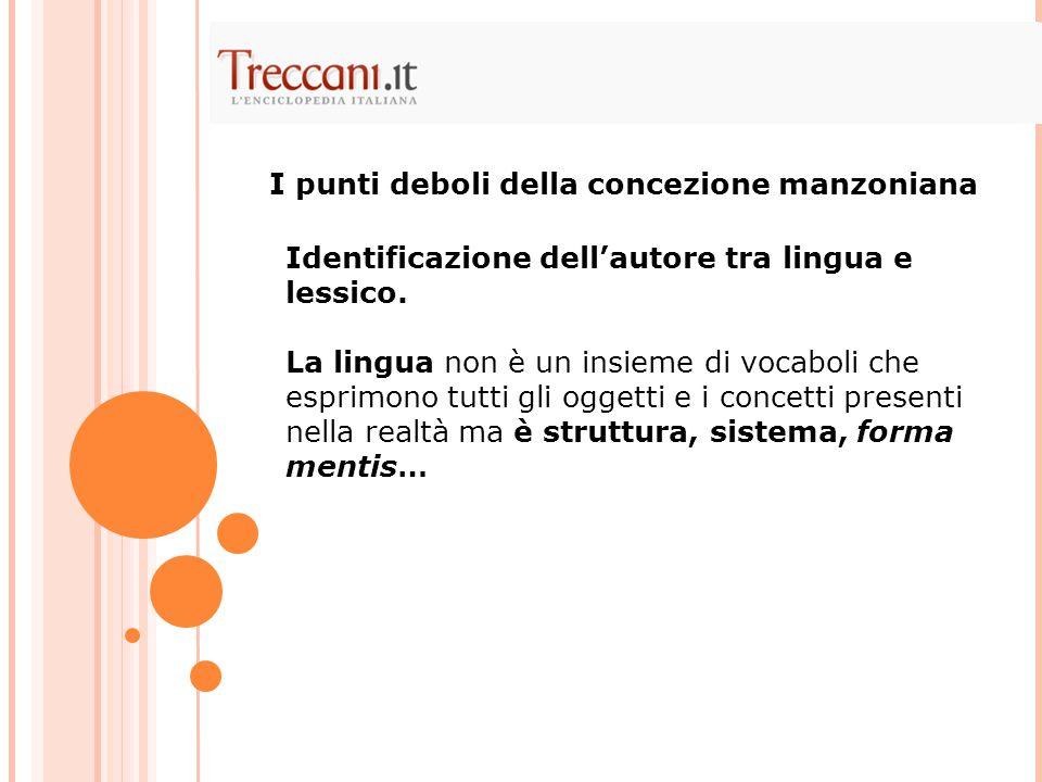 Identificazione dell'autore tra lingua e lessico. La lingua non è un insieme di vocaboli che esprimono tutti gli oggetti e i concetti presenti nella r