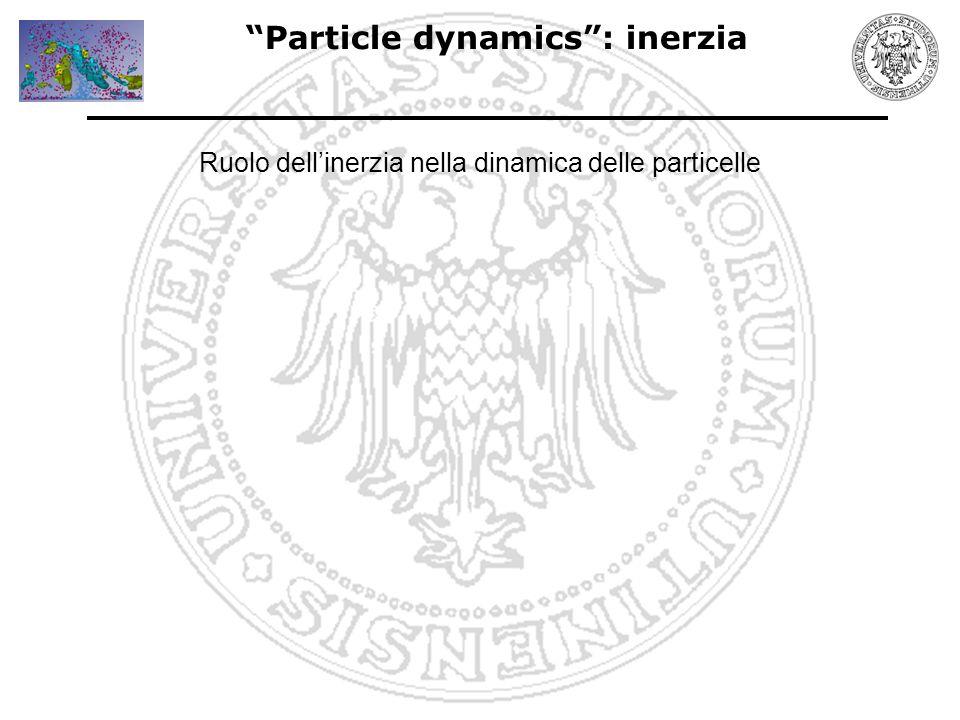 Particle dynamics : inerzia Ruolo dell'inerzia nella dinamica delle particelle