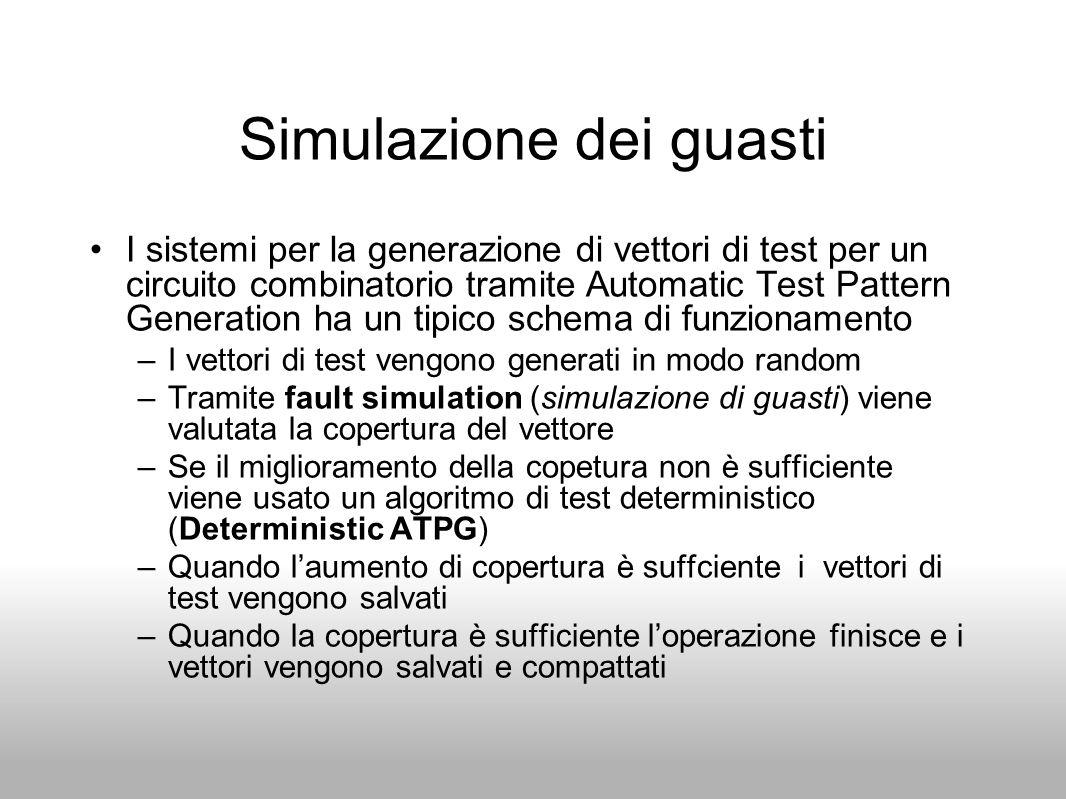Simulazione dei guasti I sistemi per la generazione di vettori di test per un circuito combinatorio tramite Automatic Test Pattern Generation ha un ti