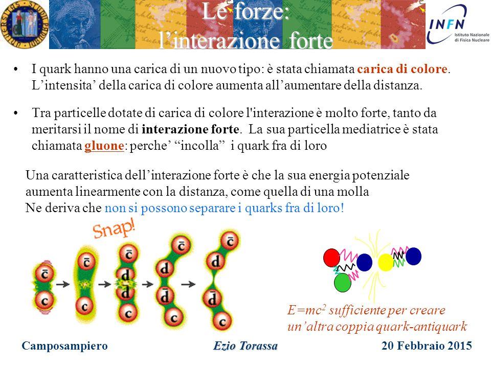 20 Febbraio 2015 Ezio Torassa Le forze: la teoria ElettroDebole LEP Camposampiero