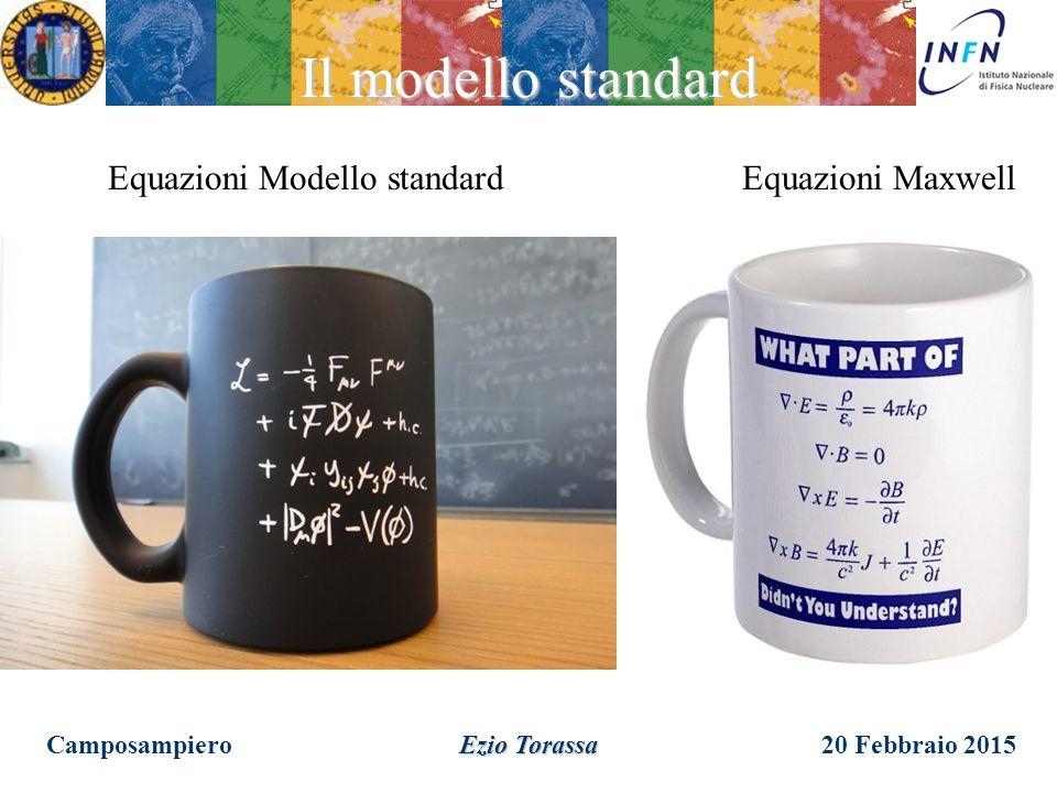 20 Febbraio 2015Camposampiero Ezio Torassa Equazione Modello Standard Il modello standard