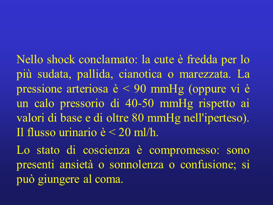 SHOCK IPOVOLEMICO Etiopatogenesi.Deficit acuto di volume circolante.