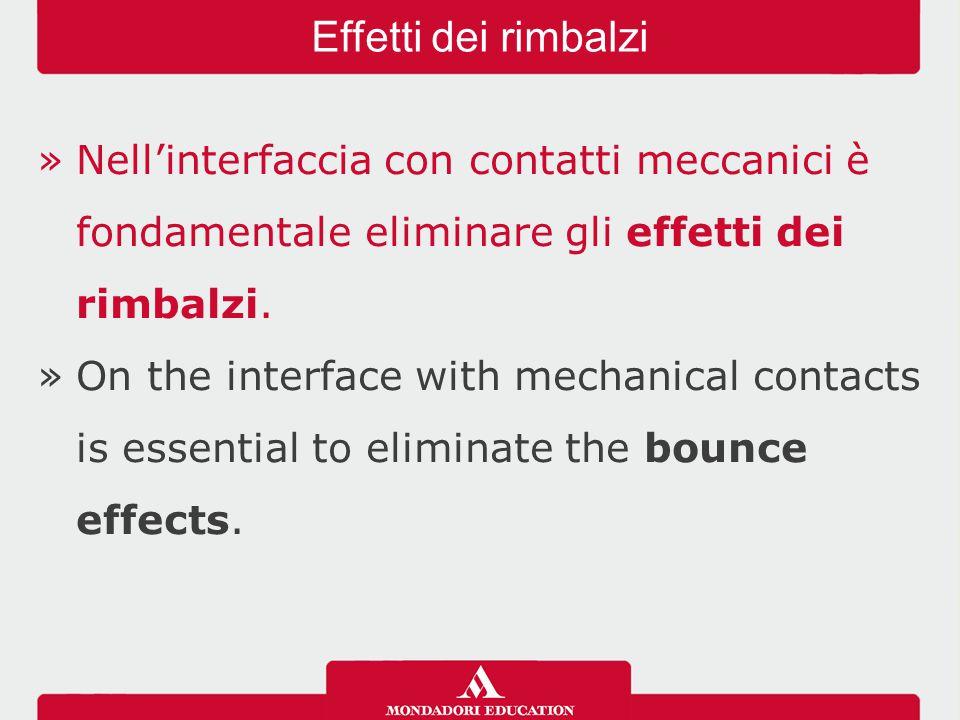 »Nell'interfaccia con contatti meccanici è fondamentale eliminare gli effetti dei rimbalzi.
