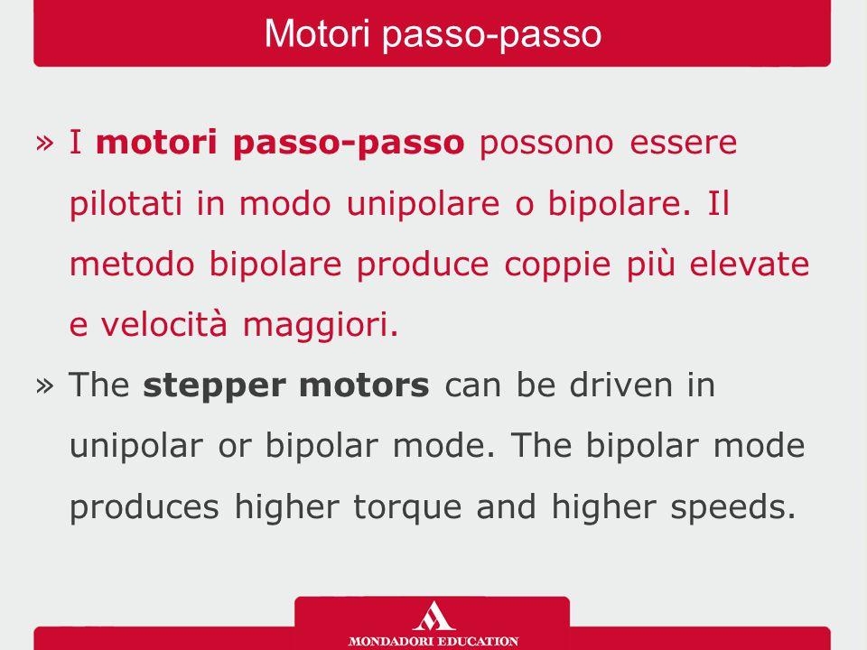 »I motori passo-passo possono essere pilotati in modo unipolare o bipolare.