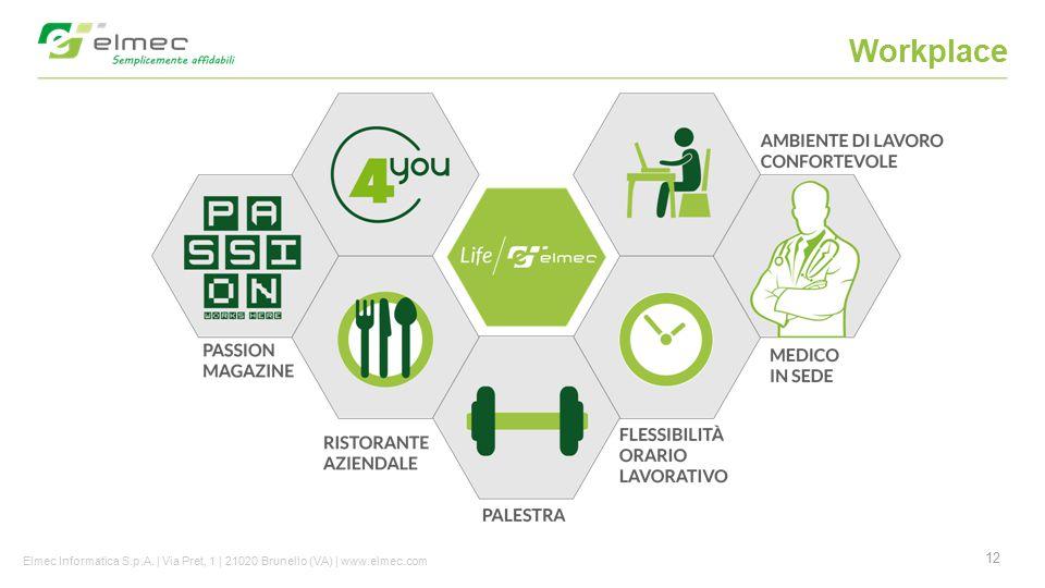 12 Workplace Elmec Informatica S.p.A. | Via Pret, 1 | 21020 Brunello (VA) | www.elmec.com