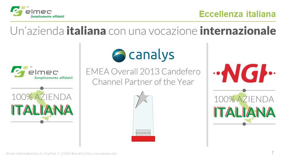 7 Eccellenza italiana Elmec Informatica S.p.A. | Via Pret, 1 | 21020 Brunello (VA) | www.elmec.com