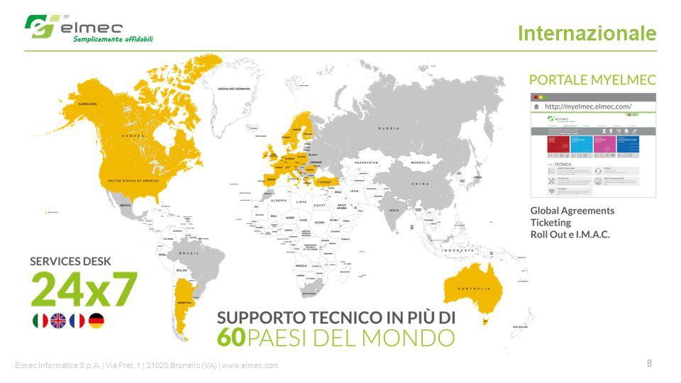 8 Internazionale Elmec Informatica S.p.A. | Via Pret, 1 | 21020 Brunello (VA) | www.elmec.com